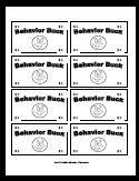 printable behavior bucks reward bucks school ideas homeschool learning aids pinterest. Black Bedroom Furniture Sets. Home Design Ideas