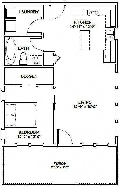 Exceptional Options To Check Into Beachcottage Tiny House Floor Plans 1 Bedroom House Plans Small House Floor Plans