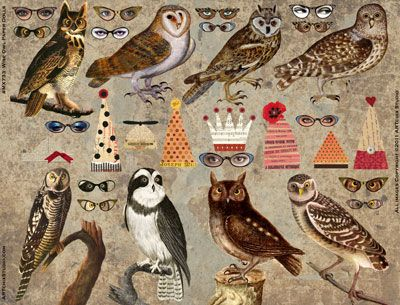 Owl Paper Dolls