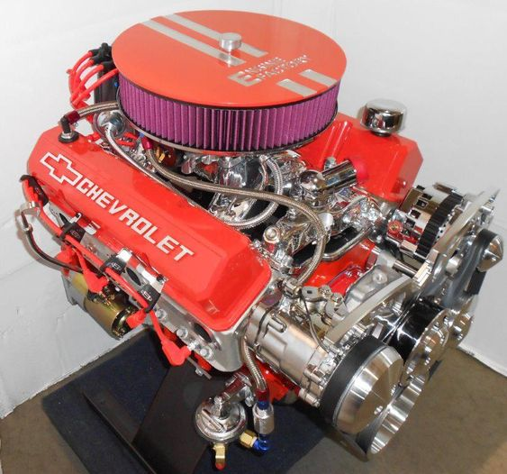 The New Lt1 V8 5th Generation Gm Small Block That Will: Chevy 383 Stroker With Painted Chevy Orange. Http://www