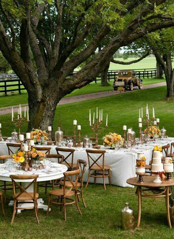 Mesas boda rustico chic
