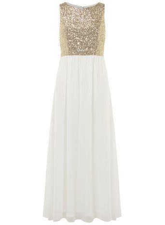 And Gold Maxi Dress
