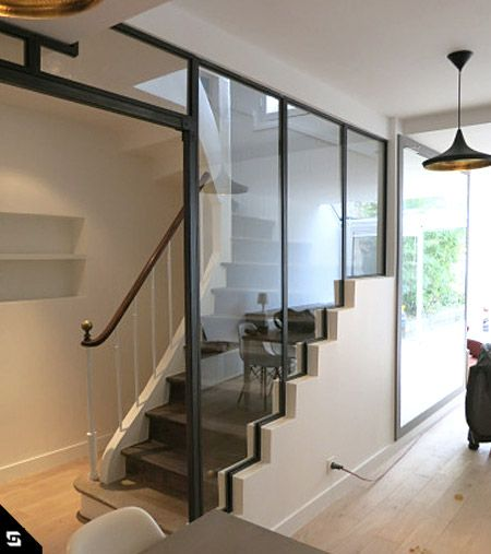 Verri re escalier verrieres d 39 interieur pinterest for Construire une verriere interieure