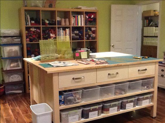 Kleiderschrank Ikea Pax Gebraucht ~ scrap yarns storage island 2 yarn stash island table cutting tables
