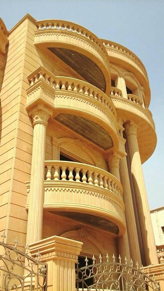 Smiley Decor سمايلي ديكور Contact Us 01228509095 01012417090 ديكورات داخليه ديكورات خار Balcony Railing Design Classic House Exterior Exterior Wall Design