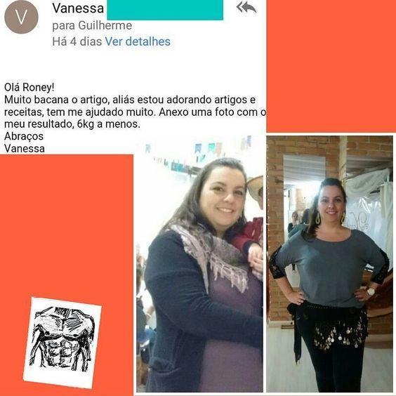 Olha que fantásticos os resultados da Vanessa! .  6 kg eliminados com sucesso .  Com receitas deliciosas .  E com muita alegria! (olha esse sorriso ) . .  Muito obrigado por compartilhar sua história com a gente Vanessa! . E se você também tem uma história de sucesso para contar manda para contato@senhortanquinho.com . . . (Ou se vc quer receitas como as que a Vanessa elogiou clica no link da minha bio do instagram para receber 23 delas gratuitamente agora!  http://ift.tt/29YBk7P)…