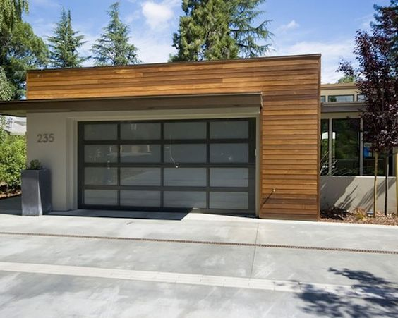 Garage door clapboard siding garage doors and wood for Garage roofing options