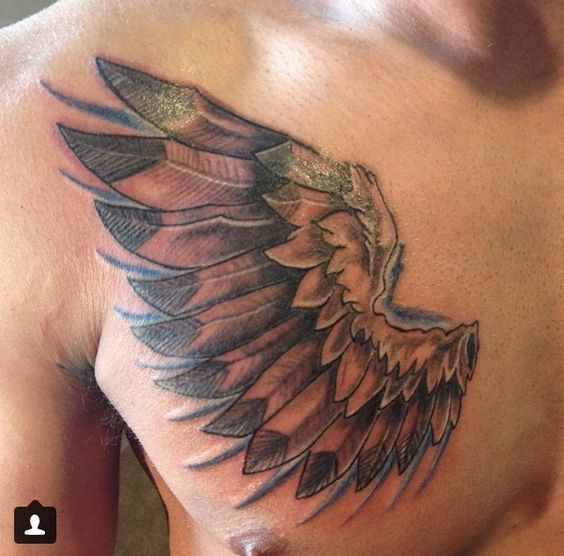 chest wing tattoo tattoo ideas pinterest wings wing tattoos and tattoos and body art. Black Bedroom Furniture Sets. Home Design Ideas