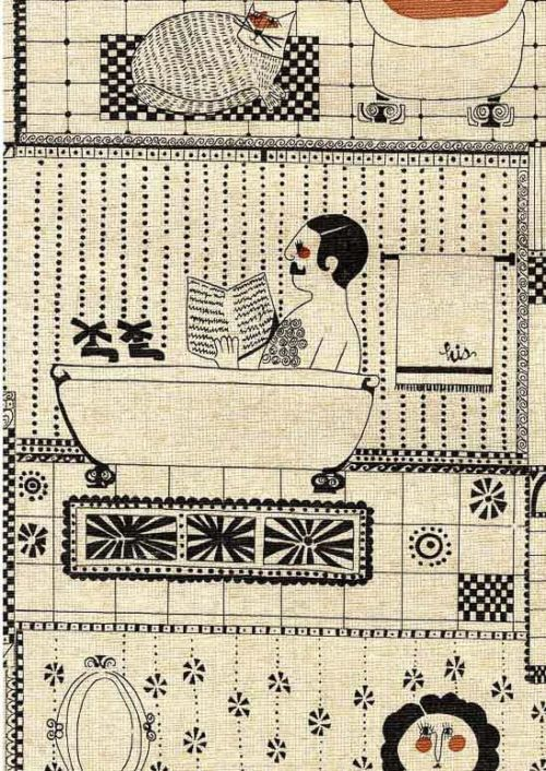 Risque Vintage Bathroom Wallpaper A 1970s Novelty Design With Lots Of Neo Victorian Bathing Beauties In 2020 Bathroom Wallpaper Retro Bathroom Wallpaper Vintage Bathroom Wallpaper