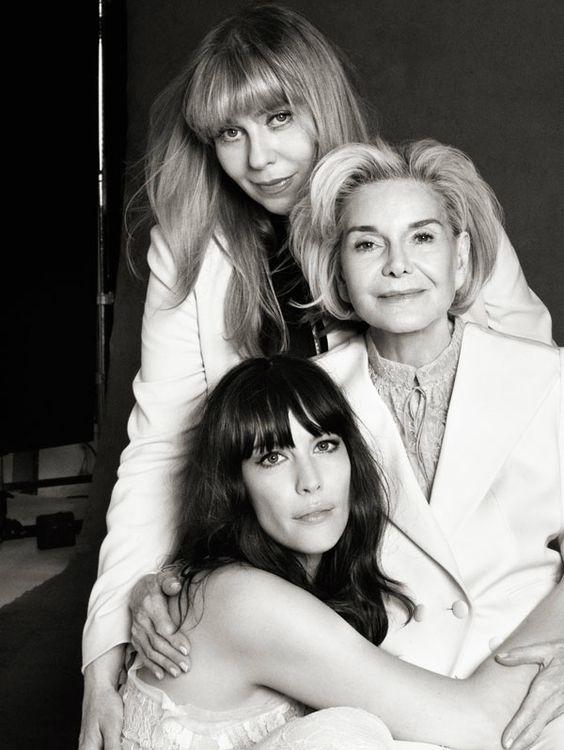 Twitter / BebeBuellBand: Harper's Bazaar May issue: Grandmother, mother, daughter (: