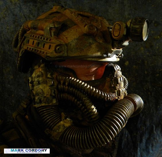 Post Apocalyptic costume for Airsoft and LARP. Made by Mark Cordory Creations www.markcordory.com