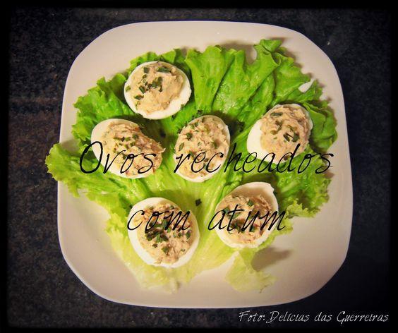 #Ovos recheados com #atum