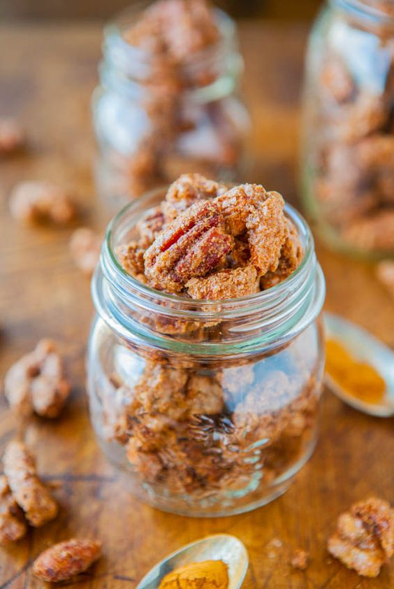 Sweet with Heat Cinnamon Sugar Candied Nuts - Easy & ready in 30 mins. Salty-and-sweet & extremely addictive! - Recipe at averiecooks.com