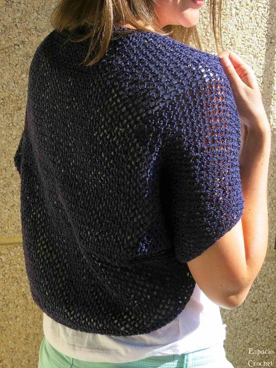 Patrones crochet manualidades y reciclado chaqueta - Manualidades a crochet paso a paso ...
