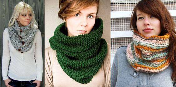 Las bufandas de cuello son otra opción de esta tendencia otoño-invierno