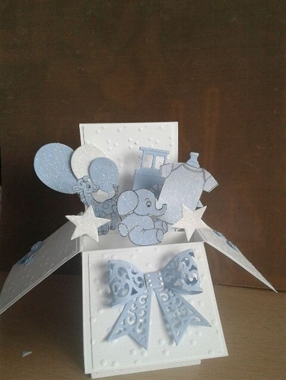 Baby card in a box | docrafts.com