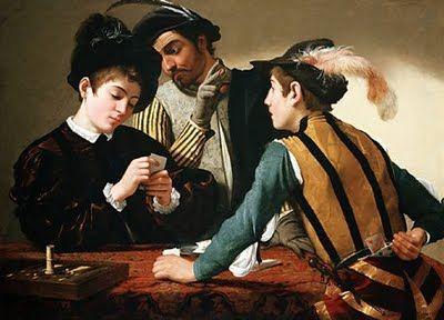 Le Caravage (1594-1595) – Les Tricheurs (1595) Kimbell Art Museum