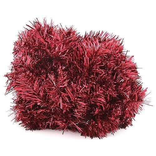 Europalms X-Mas 83500415 Edeltannengirlande, 270 cm, rot Tannengirlande für Fenster, Türen oder zur Tischdekoration ¨Dicht besetzt mit roten Nadeln