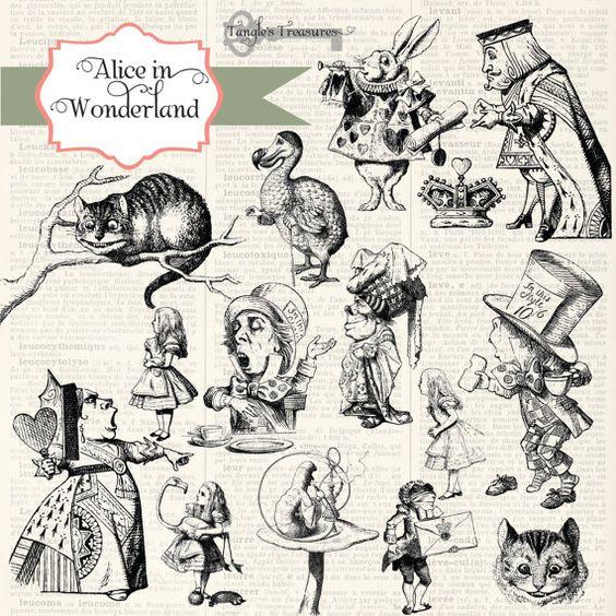 alice in wonderland clip art download - photo #41