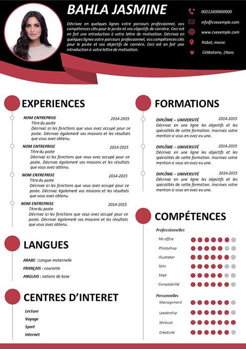 Exemple De Cv A Remplir Resume Template Word Teacher Resume Template Resume Template