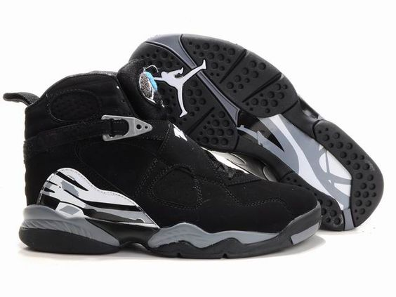 Jordan 8 black grey white basketball shoes $80.52 | Jordan 23