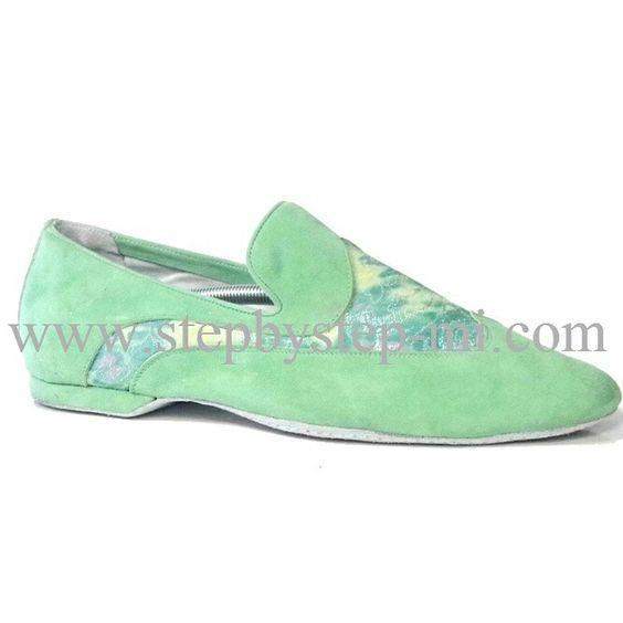 Mocassino superflex in camoscio verde acqua e tessuto fantasia, suola in bufalo  #stepbystep  #ballo #salsa #tango #kizomba #bachata #scarpedaballo #danceshoes  #superflex #pachanga #camoscio #suede #cute #design #fashion #shopping #shoppingonline #glamour #glam #picoftheday #shoe ##style #tagsforlikes #green #verde