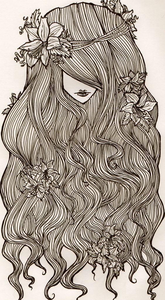 Flowers and curls