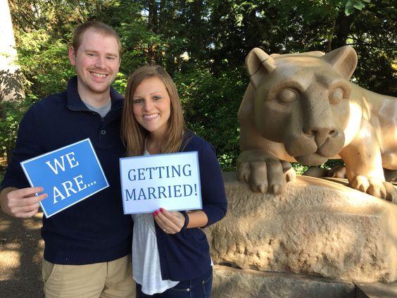 Penn state wedding picture fun!