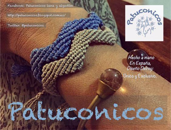 http://patuconicos.blogspot.com.es/  Pulseras Patuconicos modelo Zic zac anchas Hecha a mano en España precio: 4€ cada una. (gastos de envio no incluidos)