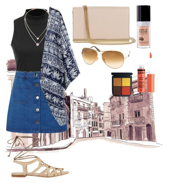 """""""walk down 😘"""" by natasyaadeww ❤ liked on Polyvore featuring Miss Selfridge, Intermix, Diane Von Furstenberg, Tom Ford, Michael Kors and MAKE UP FOR EVER"""