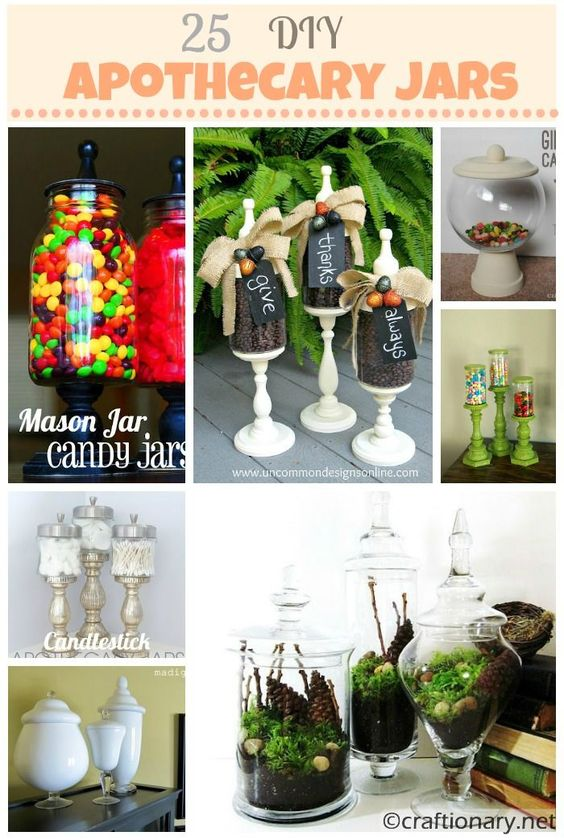 diy apothecary jars great ideas