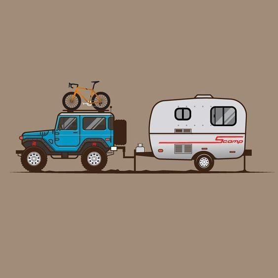 42 Jeep Illustration Drawing Ideas Jeep Scamp Trailer Land Cruiser Toyota Land Cruiser