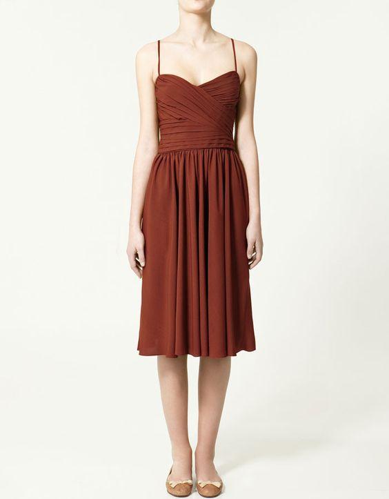 Zara Dress with draped top