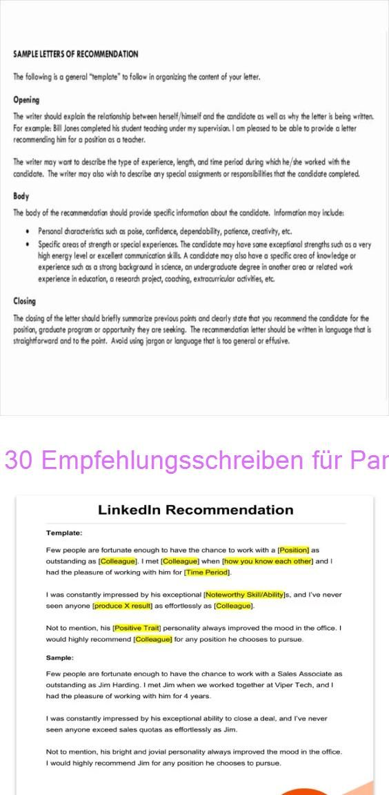 30 Empfehlungsschreiben Fur Paraprofessional Letter Of Recommendation Samples Templates For Employment Rg In 2020 Empfehlungsschreiben Schreiben Lettern