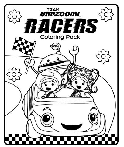Team Umizoomi racers coloring pack! | coloring | Pinterest ...