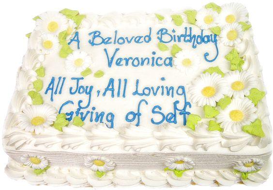 Birthday cake from Mueller's Bakery!