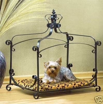 Luxury Royal Princess Iron scroll Canopy Dog Cat Pet Bed Furniture small 25 x 18 - http://www.bunnybits.org/luxury-royal-princess-iron-scroll-canopy-dog-cat-pet-bed-furniture-small-25-x-18/