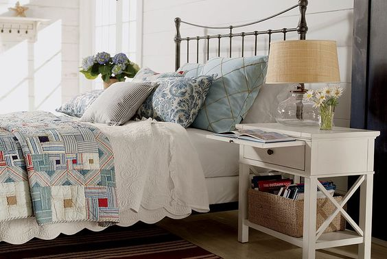 Ethan allen furniture interior design lifestyles vintage bedroom - Ethan allen metal bed ...