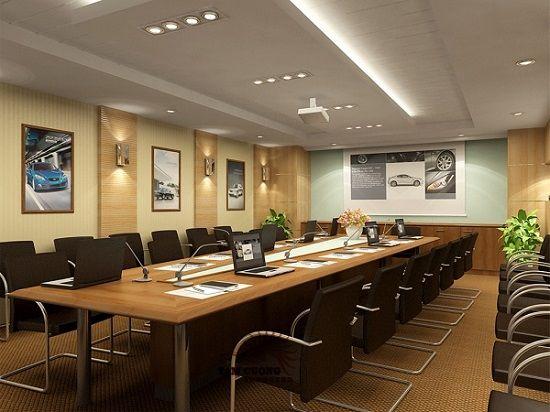 Thiết kế nội thất phòng họp đơn giản và sang trọng: