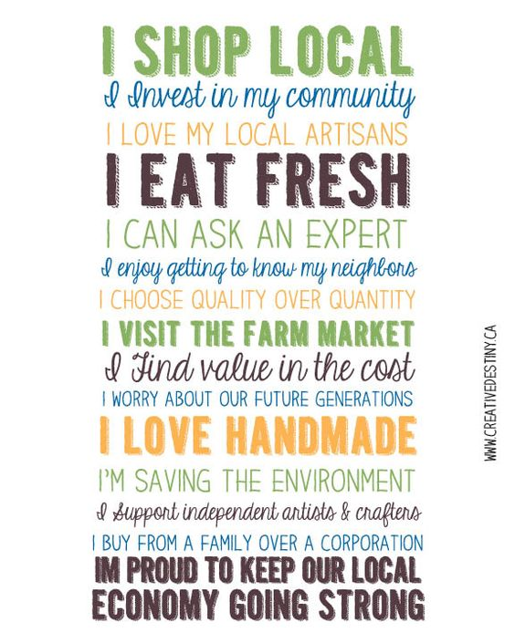 I Shop Local *Free Printable* | A Creative Destiny: