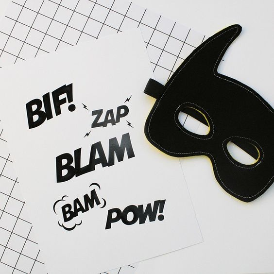 Its superhero Saturday. And that means you need to get rad superhero prints on the wall. Search 'BAM superhero black foil' on dtll.com.au or click on the shopable link in our profile #dtll #downthatlittlelane