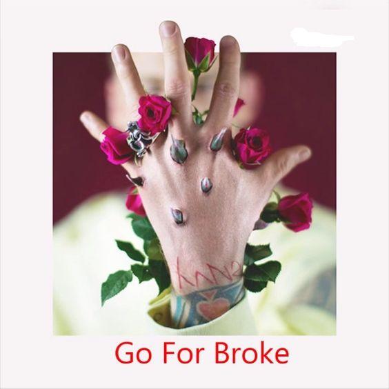 Machine Gun Kelly, James Arthur – Go for Broke (single cover art)