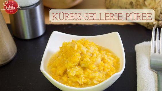Kürbis-Sellerie-Püree - Low Carb Kartoffelbrei - Beilage - vegetarisch g...