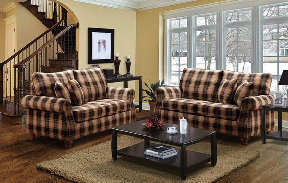 Image Detail For Loveseat Gives A Country Style Setting To This Room In This Living Sofas
