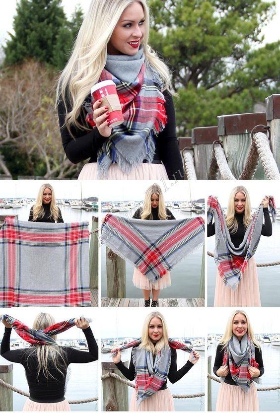 как носить шарф пашмина фото 2: