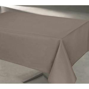 Nappe De Table Nappe anti tache rectangulaire taupe