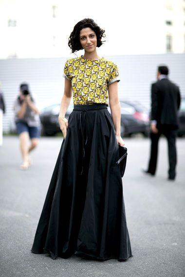 Lange Röcke richtig kombinieren