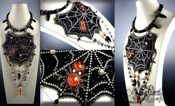 Gothic vampire necklace by LiaReed on Etsy, $220.00