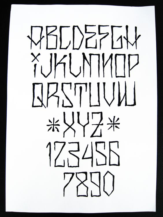 Another cholo alphabet.