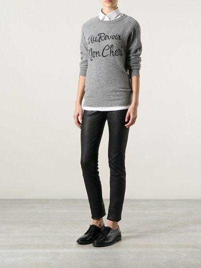 ZOE KARSSEN - slogan detail sweater